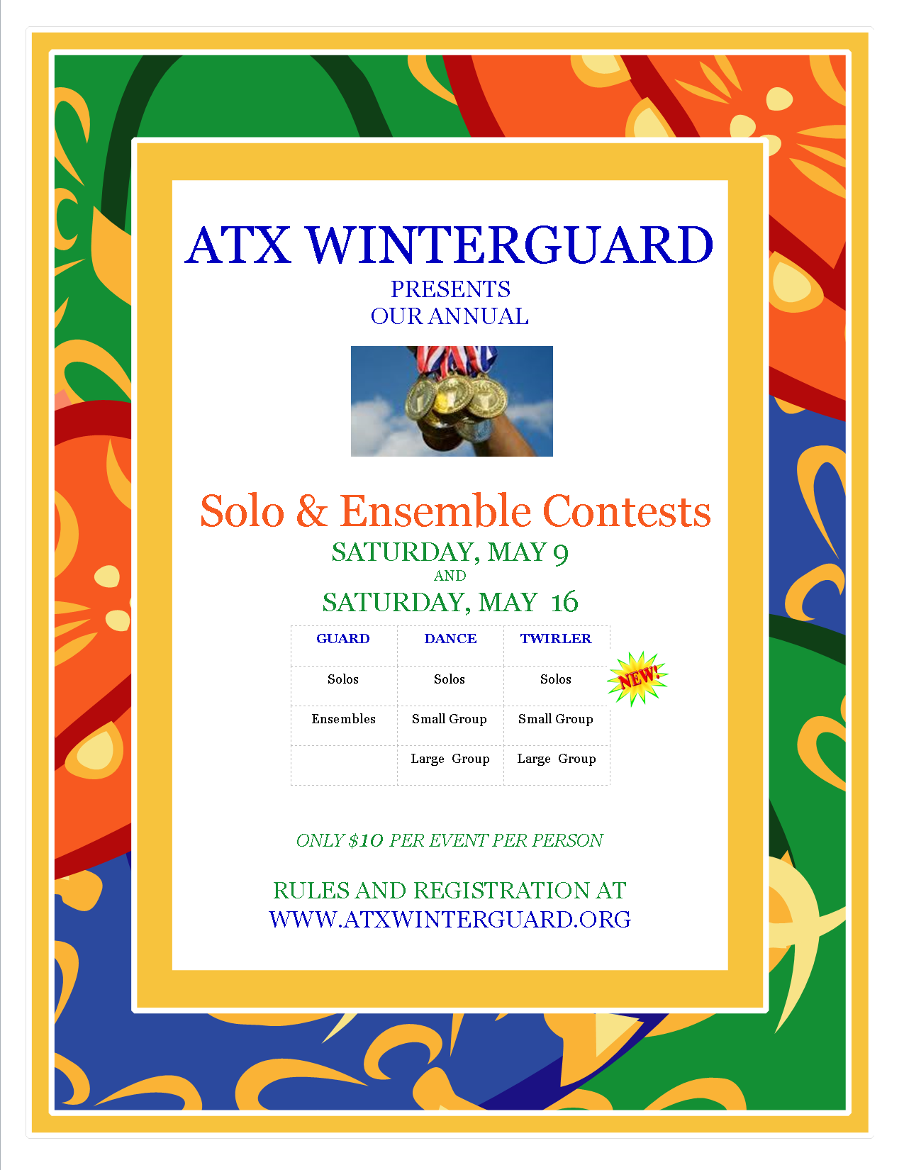 ATX Winterguard to host solo and ensemble contests